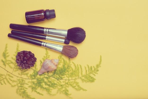 Pennello da trucco, bellezza Foto Premium