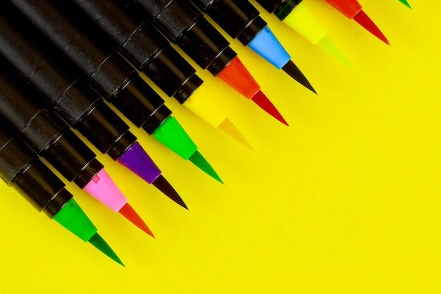Pennello per calligrafia ad acquerello artista Foto Premium