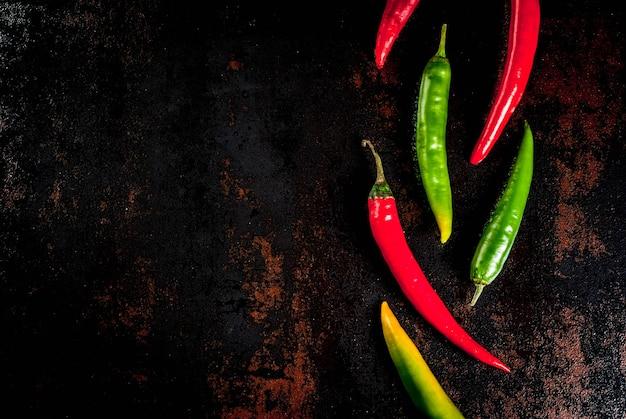Peperoncini rossi e verdi Foto Premium