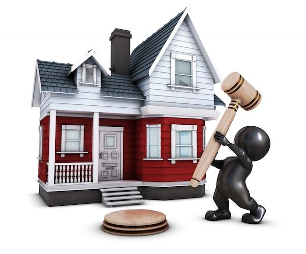 Persona con un martello di fronte a una casa scaricare for Immagini di una casa
