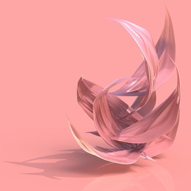 Petali rosa astratti Foto Premium