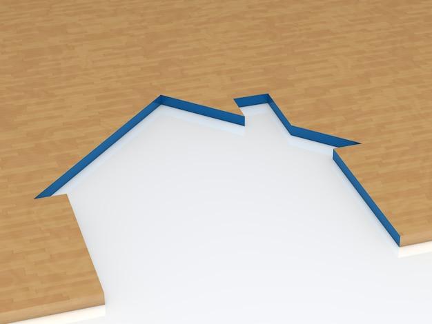 Pezzo di legno con silhouette della casa scaricare foto for Programma di costruzione della casa gratuito