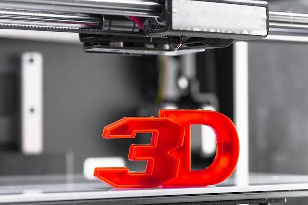 Pezzo di stampa 3d bianco Foto Premium