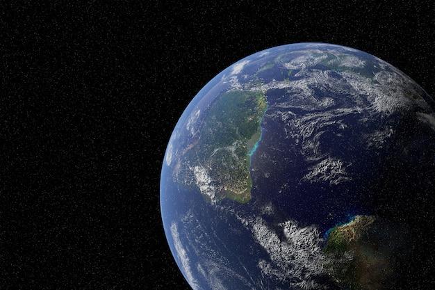 Pianeta terra altamente dettagliato nella galassia Foto Premium
