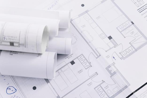 Piani di costruzione del primo piano Foto Gratuite