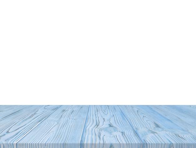 Piano d'appoggio strutturato di legno blu isolato sul contesto bianco Foto Gratuite