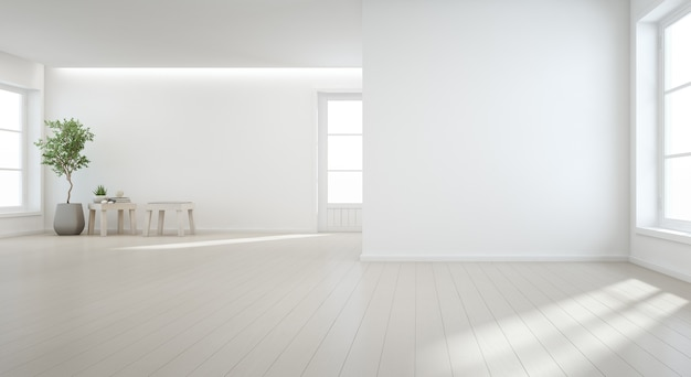 Pianta da interno sul pavimento di legno Foto Premium