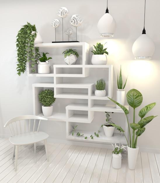 Piante sul design minimal di mensola design a parete. Foto Premium
