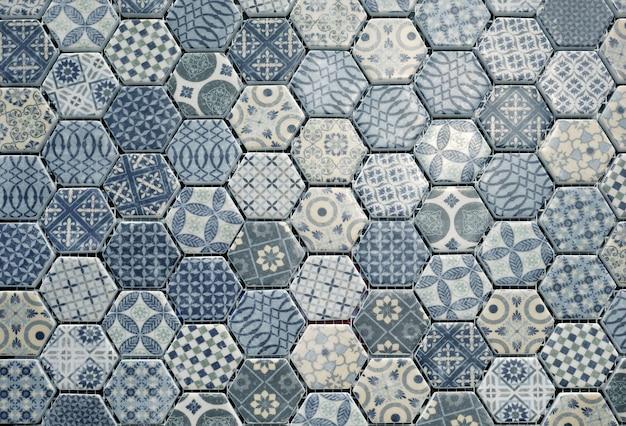Piastrelle di ceramica esagonale scaricare foto premium