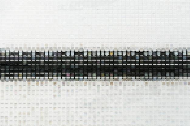 Piastrelle di vetro blu senza saldatura texture di sfondo finestra