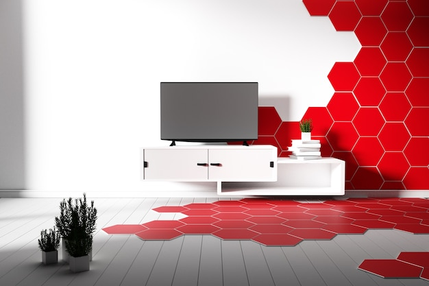 Pavimento Rosso E Bianco : Piastrelle esagonali colore rosso e bianco pavimento in legno