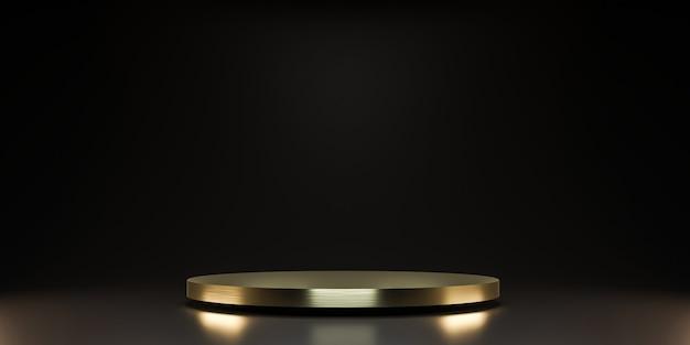 Piattaforma d'oro per mostrare il prodotto Foto Premium