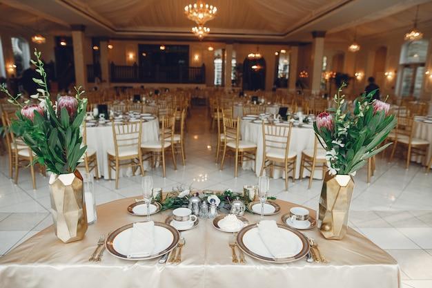Piatti di nozze eleganti Foto Gratuite