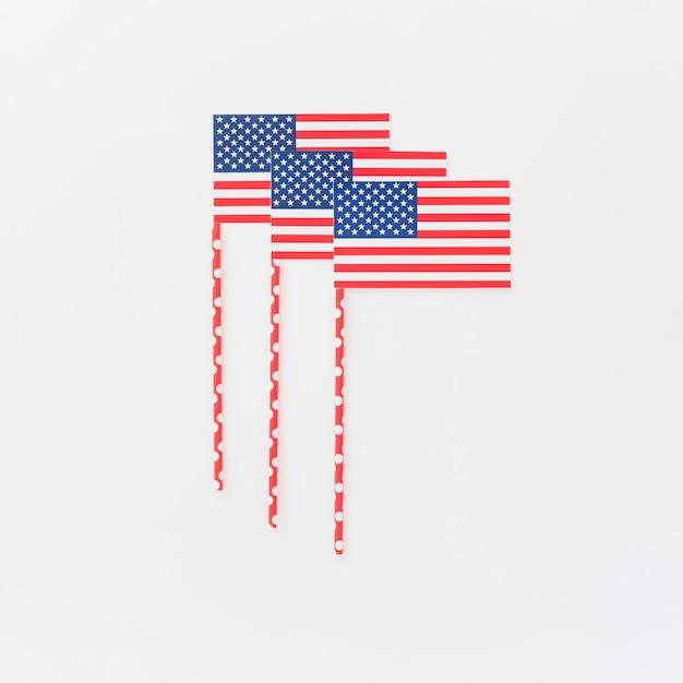 Piccole bandiere americane Foto Gratuite
