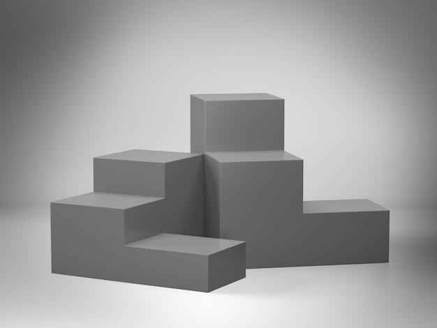 Piedistallo grigio per display con limbo Foto Premium