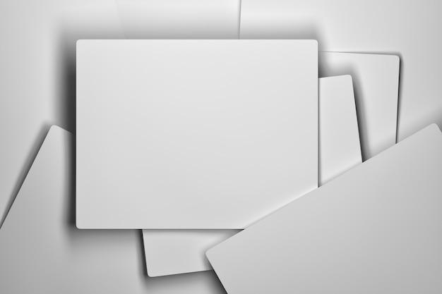 Pila di carte bianche Foto Premium