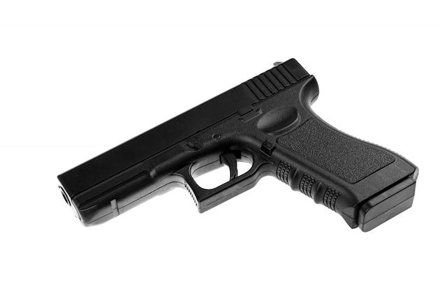Pistola isolata su bianco Foto Premium