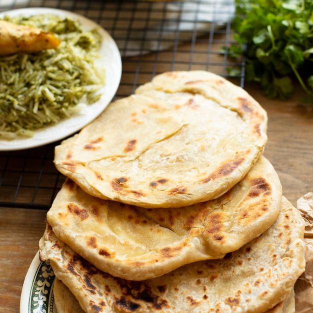 Pita con riso ricetta indiana tradizionale Foto Gratuite
