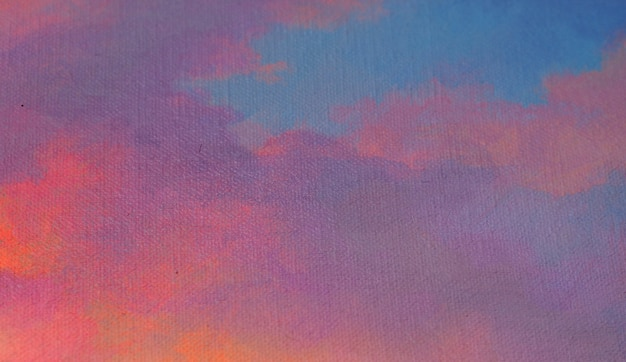 Pittura abstract background con texture morbida cielo dopo il tramonto Foto Premium