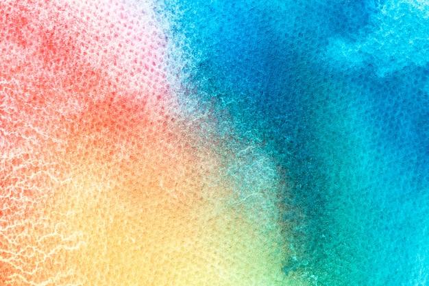 Pittura della mano di arte dell'acquerello sul fondo bianco di struttura dell'acquerello. Foto Premium
