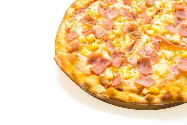 Pizza hawaiana sul vassoio in legno Foto Gratuite