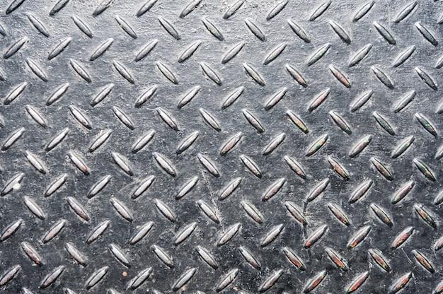 Placca di metallo diamante grunge Foto Premium