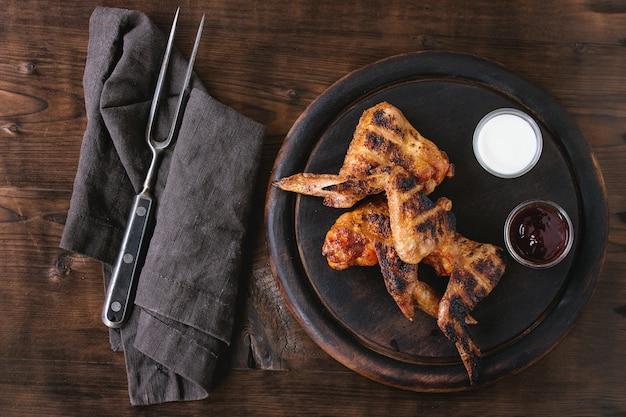 Pollo alla griglia barbecue Foto Premium