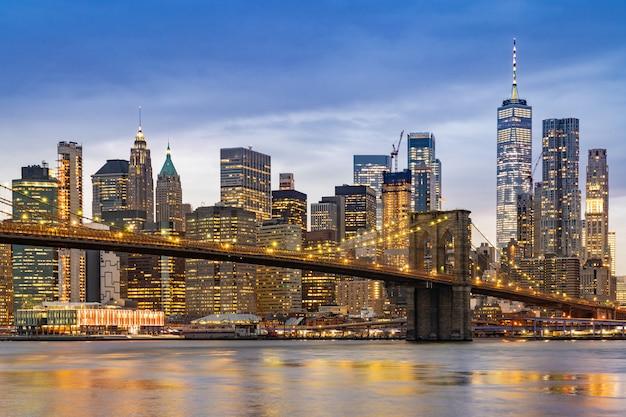 Ponte di brooklyn a new york Foto Premium