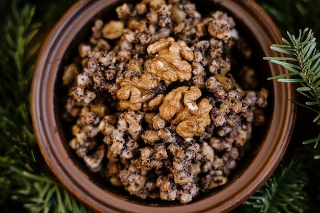 Porridge di kutia piatto tradizionale natalizio per le vacanze slave Foto Premium