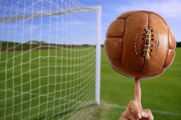 Porta da calcio in rete Foto Premium