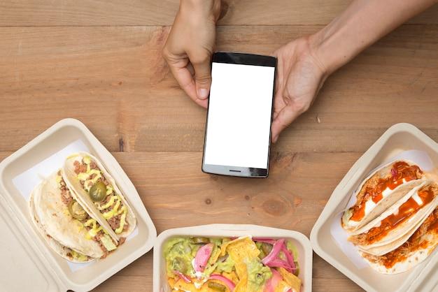 Porta via il cibo messicano Foto Premium