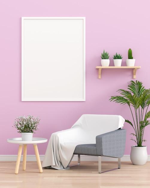 Portafoto bianco nel soggiorno Foto Premium