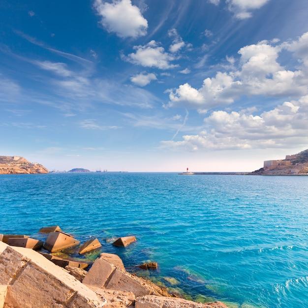 Porto di cartagena a murcia nella spagna mediterranea Foto Premium