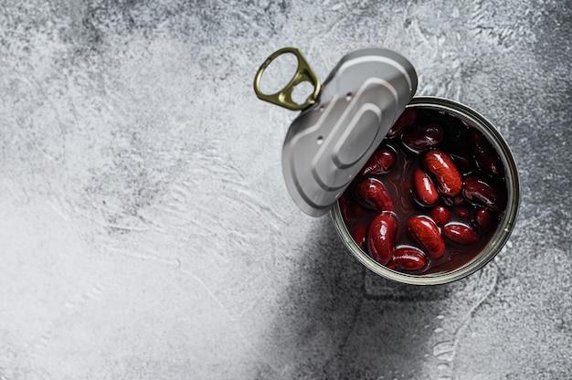 Possibile con fagioli. vista dall'alto. Foto Premium