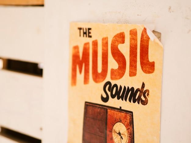 Poster con il concetto di musica Foto Gratuite