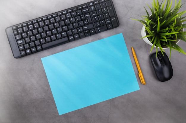 Posto di lavoro con spazio di copia. Foto Premium
