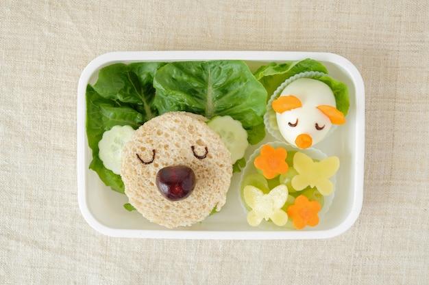 Pranzo al sacco koala, arte divertente per i bambini Foto Premium