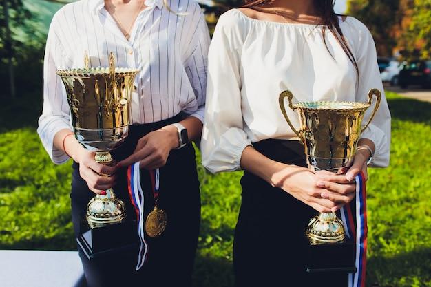 Premi trofei per la leadership dei campioni nei tornei, successo della cerimonia per i premi alla vittoria. Foto Premium