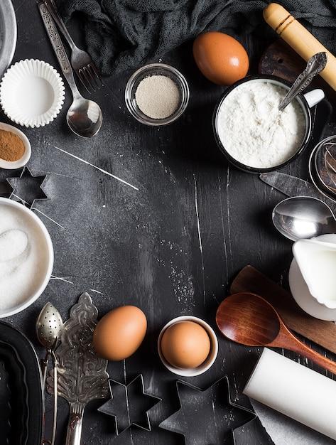 Preparazione cottura ingredienti da cucina per cucinare Foto Gratuite