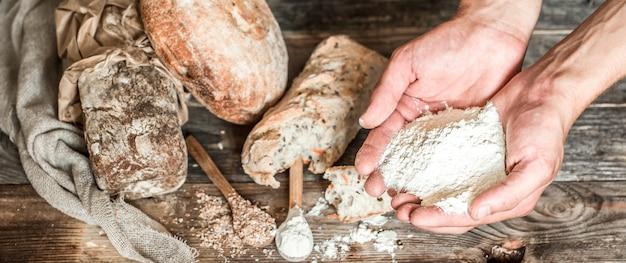 Preparazione del pane Foto Gratuite