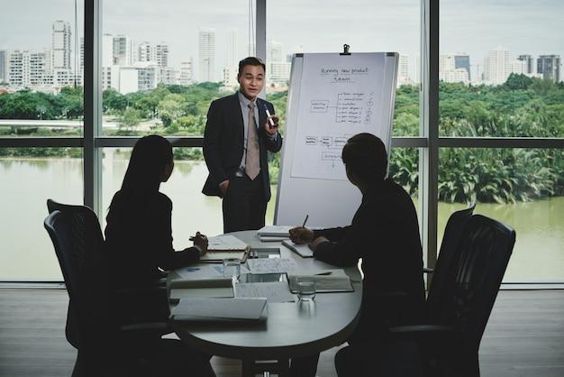 Presentazione del progetto di avvio agli investitori Foto Gratuite