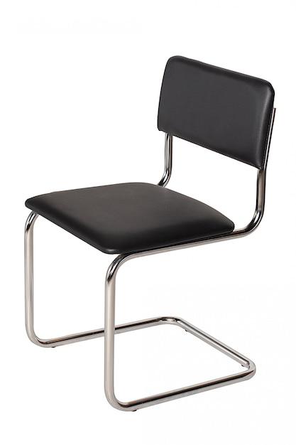 Presidenza nera dell'ufficio isolata su bianco Foto Premium