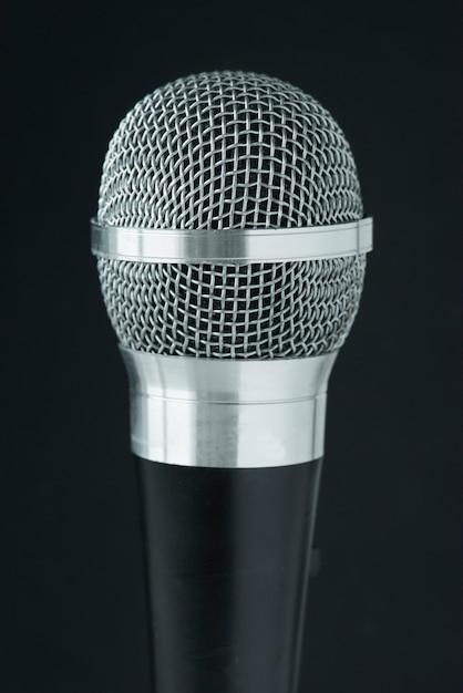 Primo piano del microfono Foto Gratuite
