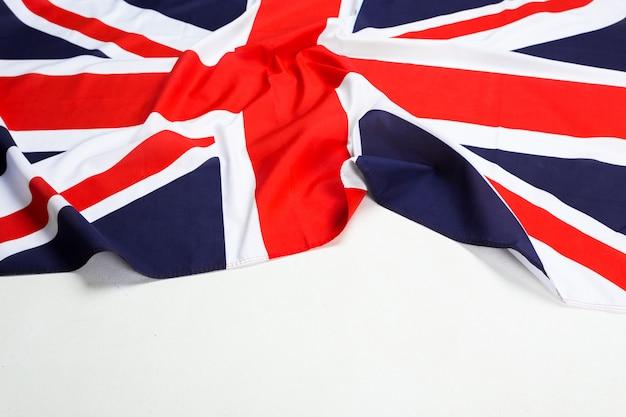 Primo piano della bandiera union jack Foto Premium
