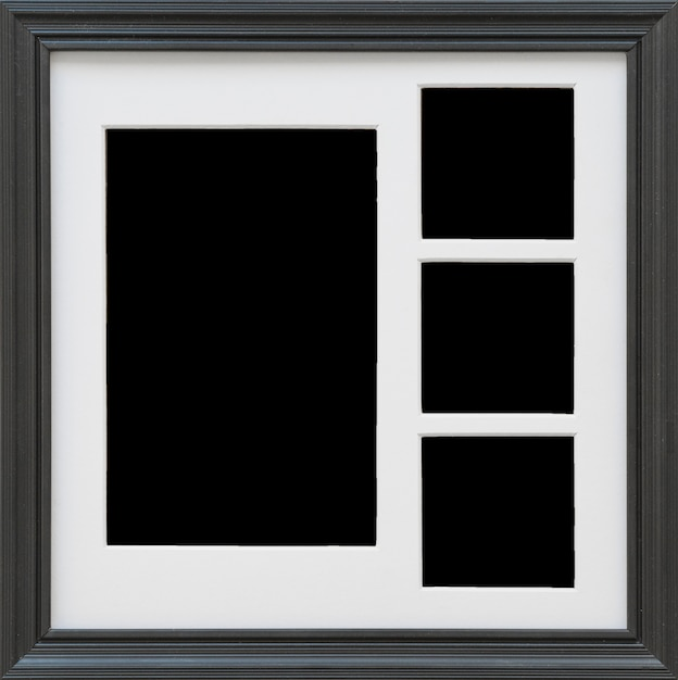 Primo piano della cornice nera Foto Gratuite