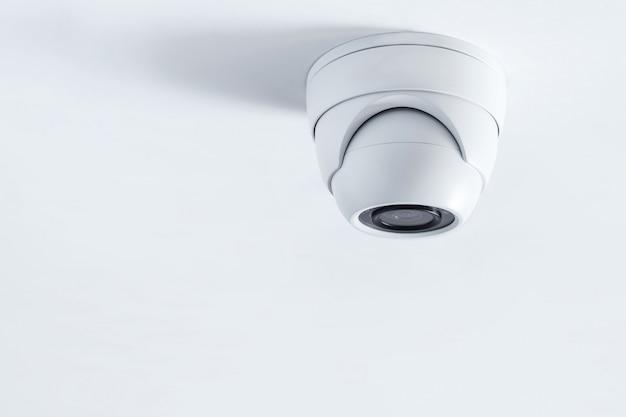 Primo piano della macchina fotografica del cctv. sistema di sicurezza. telecamera cctv Foto Premium