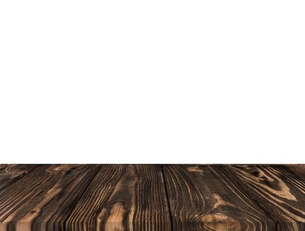 Primo Piano Della Scrivania Scura Su Sfondo Bianco Scaricare Foto