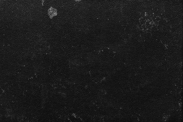 Primo piano della vecchia copertina del libro nero Foto Gratuite