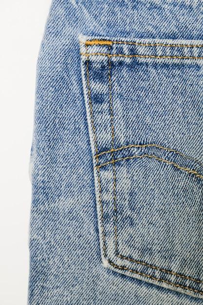 Primo piano delle blue jeans dell'annata Foto Gratuite