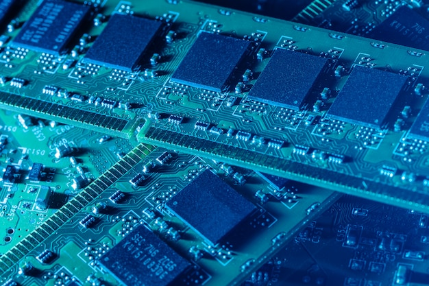 Primo piano di parti di computer Foto Gratuite